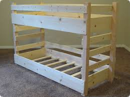 Free Diy Loft Bed Plans by Small Toddler Bunk Bed Plans Fits Two Crib Size Mattresses