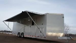 Cargo Trailer Awning Complete Trailers Llcv Nose Shower Custom Steel U0026 Aluminum Trailers