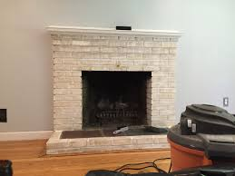 decoration modern room with diy fake fireplace brick wall frame