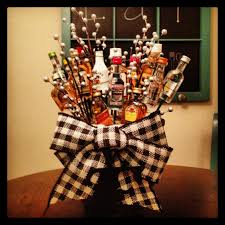 halloween gift baskets adults mini liquor bottle bouquet my diy creations pinterest mini