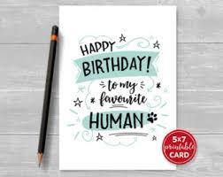 happy birthday human etsy