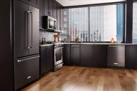 white kitchen cabinets with black slate appliances slate appliances bold kitchen cabinet colors for 2018
