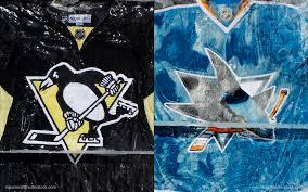 San Jose Sharks Flag Stanley Cup 2016 Showdown Pittsburgh Penguins Vs San Jose Sharks