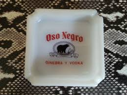 Etsy Vintage Home Decor by Vintage Oso Negro Ginebra Y Vodka Black Bear Glass Ashtray Mid