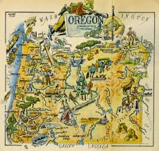 Map Of Central Oregon by Oregon Pictorial Map 1946