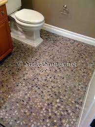 diy bathroom flooring ideas pebble tile floor bathroom room design ideas