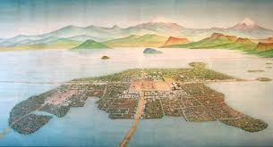 aztec map of mexico the aztec capital city of tenochtitlan at mexico city