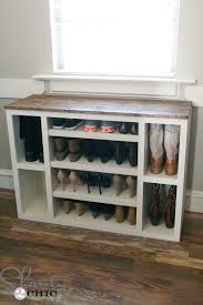 Woodworking Plans Free Standing Shelves by Diy Shoe Storage Cabinet Shanty 2 Chic