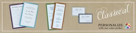 Custom Wedding Programs Classical Wedding Stationery Custom Personalization Of Wedding