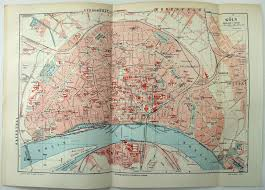 Cologne Germany Map by 1907 City Map Of Cologne Germany By Meyers Koln U2022 20 00 Picclick