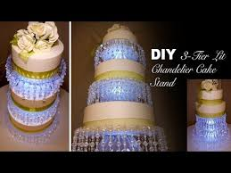 3 tier wedding cake stand diy 3 tier lit chandelier wedding cake stand