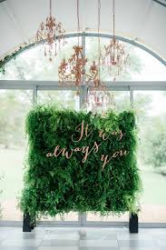 wedding backdrop green breathtaking copper metallic blush wedding ideas