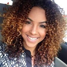 3a Curly Hair Extensions by Ombre Deep Wave Human Hair Weave Two Tone Curly Human Hair