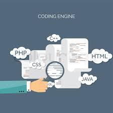 web design software freeware vector illustration flat background coding programming seo