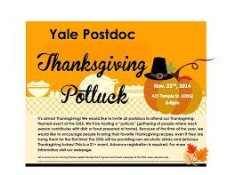 postdoc thanksgiving potluck office for postdoctoral affairs