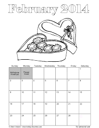 printable february 2014 calendars holiday favorites