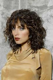 hairstyles for medium length permed hair with layers medium length layered haircuts for wavy hair with bangs