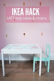 ikea hack latt table and chairs for kids the sweetest digs