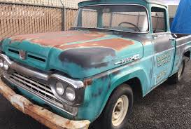 Vintage Ford Truck Salvage Yards - big window 1960 ford f 100 parts truck