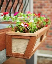 Hanging Planter Boxes by Rail Planters Deck Railing Planters Solutions Projects To