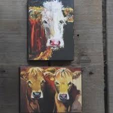 Cow Decor Cow Canvas Art Canvas Cow Prints Antique Farmhouse