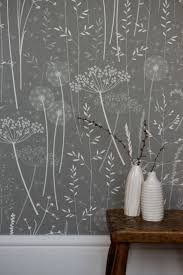 best 25 kitchen wallpaper ideas on pinterest bedroom wallpaper paper meadow wallpaper in charcoal hannah nunn