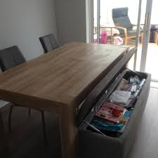 Dining Room Storage Bench by Next Madsen Dining Table Storage Bench And 2 Chairs In Bradley