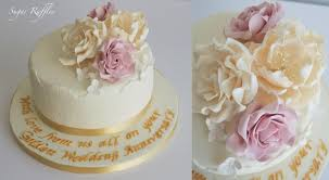 wedding anniversary cakes wedding cakes golden wedding anniversary cake 2014175 weddbook