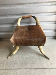 horn chair vintage horn chair antler chair leather chair