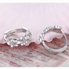 pretty earrings top sale 925 sterling silver earring woven flowers shape hoop