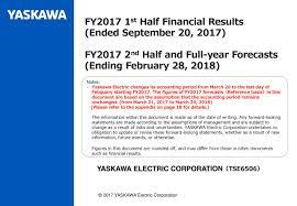 Seeking Ending Yaskawa Electric Corp Adr 2017 Q2 Results Earnings Call