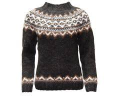 brynja wool knitted jumper with zipper and