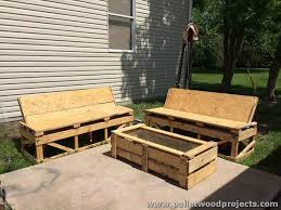 Wood Patio Furniture Plans Pallet Patio Furniture Sets Pallet Wood Projects