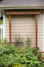build a garden trellis diy garden trellis out of pressure treated wood and cattle fencing