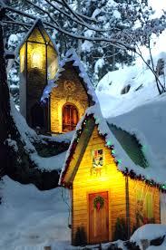 christmas village in caux montreux riviera switzerland winter