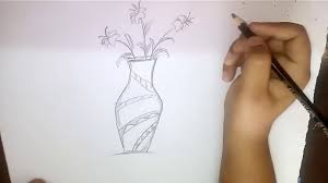 flower in vase drawing how to draw a flower vase youtube