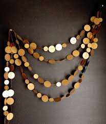 antique gold garland caramel brown new years by artsdelight