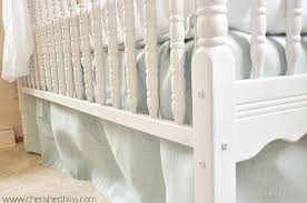 Crib Bed Skirt Diy The Easiest Diy Crib Skirt Tutorial Cherished Bliss