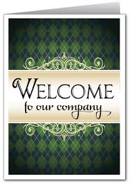 welcome to our company greeting card 1205 custom invitations