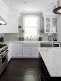 20 gorgeous backsplash ideas alternatively to add some dimension to such a kitchen you could go with something like the grey subway tile you see here