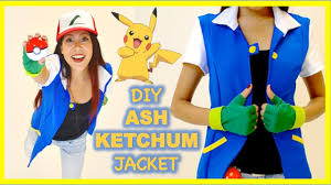Ash Ketchum Halloween Costume Diy Ash Ketchum Jacket Pokemon Costume Cosplay