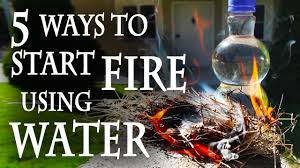 5 ways to start a fire using water youtube