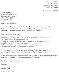 Consider My Resume Medical Cover Letter Examples Cover Letter Now