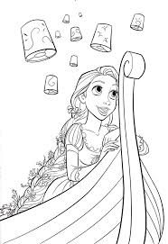 disney coloring pages tangled pascal coloring