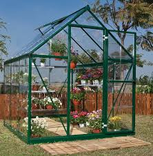 outdoor palram greenhouse polycarbonate with green paint metal