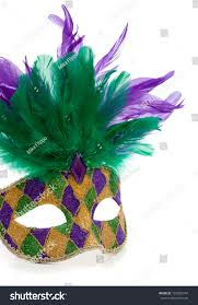 green mardi gras mask purple gold green mardi gras mask stock photo 133865744