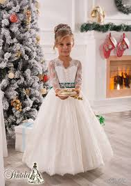 vintage long sleeves lace ball gown baby birthday party
