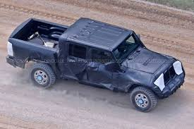 new jeep comanche new 2019 jeep wrangler u0027jt u0027 pick up truck spotted by car magazine