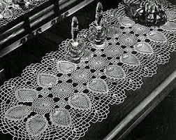 Crochet Table Runner Pattern Pineapple Runner Pattern 7770 A Crochet Patterns