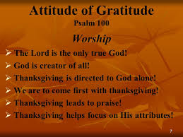 attitude of gratitude psalm ppt